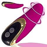 Vibrator Zunge für Sie 11,1 cm, Stimulation von Klitoris, 7 Stufen Starke Vibration, Zungenvibrator...