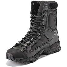 Daytwork Militares Tácticas Combate - Zapatos para Hombre Combate Botas Tobillo Táctico Plataforma Cuero Al Aire