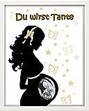 'CORNICE PORTAFOTO Personalizzato-ad ultrasuoni-Du Wirst tante-regalo-battesimo-Nascita