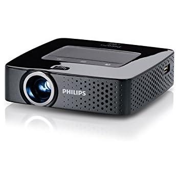 Philips PPX3614/EU PicoPix Proiettore Tascabile, 140 Lumen, Nero