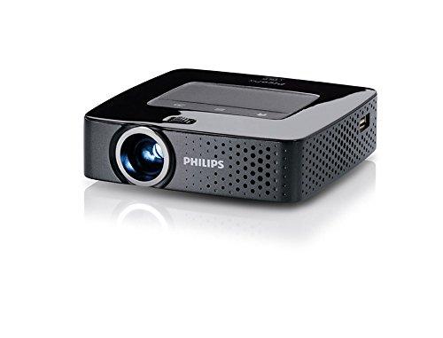 Philips Pico Pix 3614 LED-Projektor (VGA, Kontrast 1000:1, 640 x 480 Pixel, 140 ANSI Lumen, WiFi, USB) schwarz