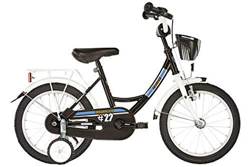 Vermont Kinder-Fahrrad City Police 12 Zoll | 1-Gang-Kinder-Rad, Stützräder, Klingel und Fahrradkorb