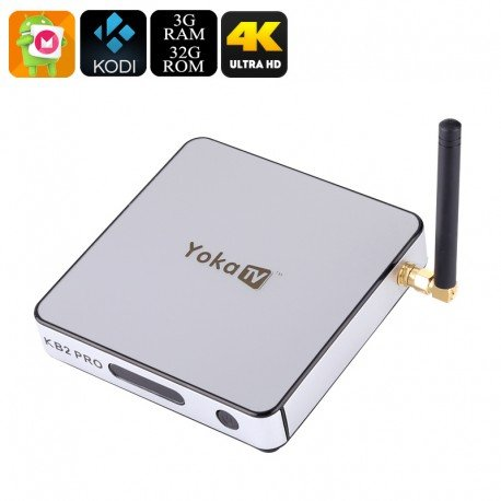 Caja de TV Pro Amlogic S912 YOKA TV KB2 – 6.0 Android, …