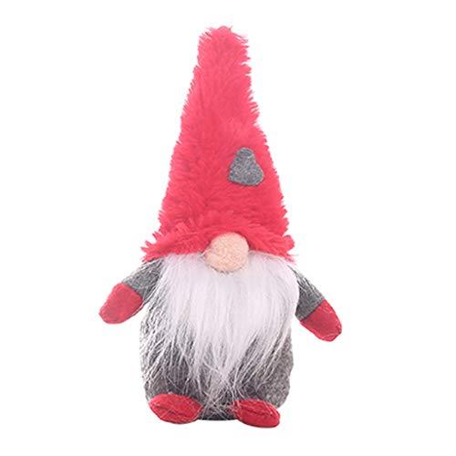 Toasye Weihnachtsschmuck Lange Beine Plüsch Wald Menschen Stehen Haltung Puppe Figur Ornamente Nordic kreative Alter Mann Puppe Geschenk (Nicht der alte Mann gebunden)