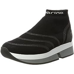 Fornarina Selfie, Sneaker Donna, Nero (Black 000), 38 EU
