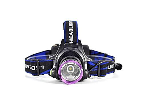 Fxz LED-Taschenlampe, Aluminium-USB-Ladekopf Tactical wiederaufladbare Scheinwerfer Blinkleuchte Helm hell rot weiß Modus 4,M