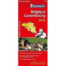 Carte Belgique, Luxembourg 2016 Michelin