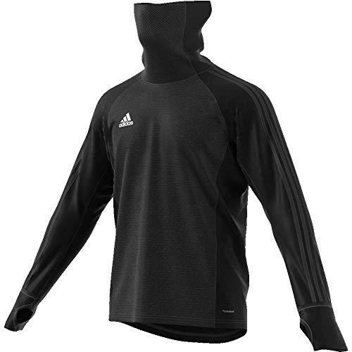 adidas Herren CON18 WRM TOP Sweatshirt, Black/White, L