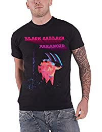 black Sabbath T Shirt Paranoid Motion Trails band logo nouveau officiel Homme