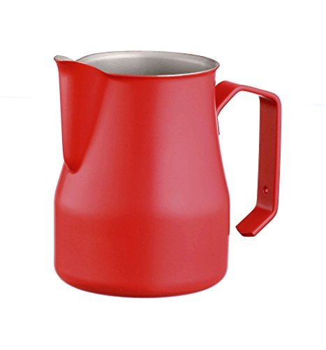 Motta 50cl Stainless Steel Professional Milk Pitcher, 17 Fluid Ounce, Red by Motta thumbnail