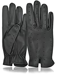 Men's Leather Winter Driving Gloves Classic English Genuine Real Leather