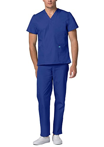 Adar Universal Medical Scrubs Set Medical Uniforms - Unisex Fit - 701 - RYL -2X - 2