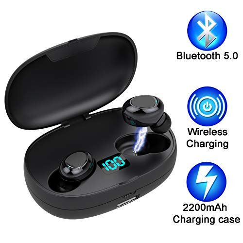 Auriculares Bluetooth 5.0 Hasta 50 Horas Reproducción
