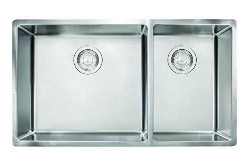 Franke CUX160 Cube 18G Stainless Steel Double Bowl Kitchen Sink by Franke -