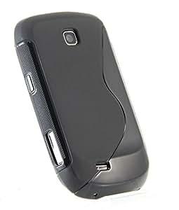 SamSung 5570 Magic Brand S-Line Black Soft Silicon Back Cover Case