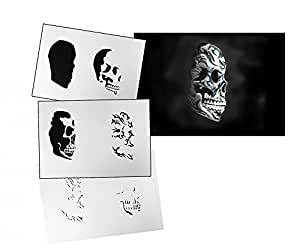 UMR-Design AS-103 tribal skull Airbrushstencil Step by Step Size M