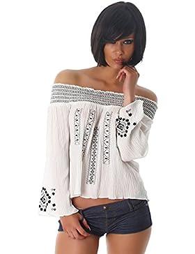 Jela London - Camisas - plisado - Básico - Manga Larga - para mujer