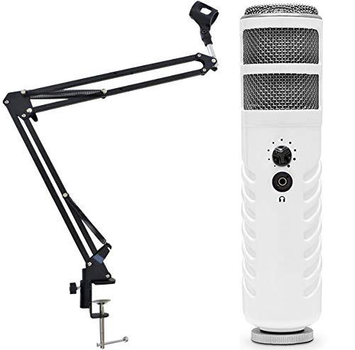 Rode Podcaster MKII USB Mikrofon + keepdrum NB35 Mikrofonstativ Tisch-Mikrofonarm Gelenkarm