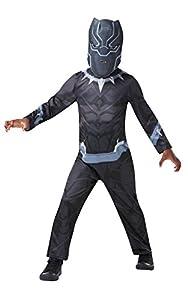 Rubies 640907TODD Marvel Avengers Black Panther Classic - Disfraz infantil para niños, talla única