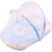 Bebé Cama Cuna Cama con dosel mosquitera tienda de campaña de almohada para viaje plegable portátil