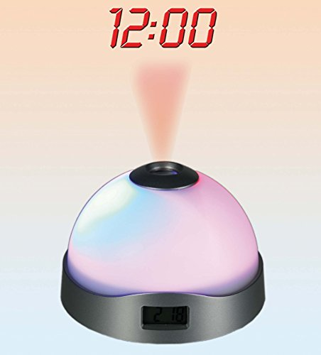 Kenzies Gifts 3 Changing Colour Alarm Clock - Digital Time Projector - Mens, Mans, Gents, His, Him Quality, Novelty Birthday, Christmas, Xmas Presents, Gifts Ideas