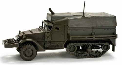 Herpa 743730 - Miniaturmodell - M3 Halbkette Plane MG