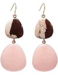 Lola Rose Women Multicolour Coral Jasper Dangle and Drop Earrings 702188