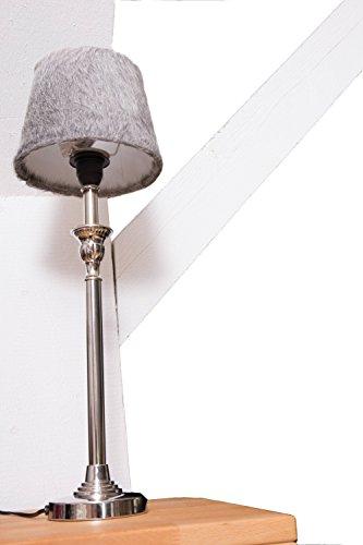 mars-more-lampenschirm-kuh-grau-25-cm-lederstahl-mit-hochwertigem-eleganten-lampenfuss-in-silber-tis