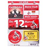 1. FC Köln Aufkleberkarte - 5 Aufkleber auf Karte