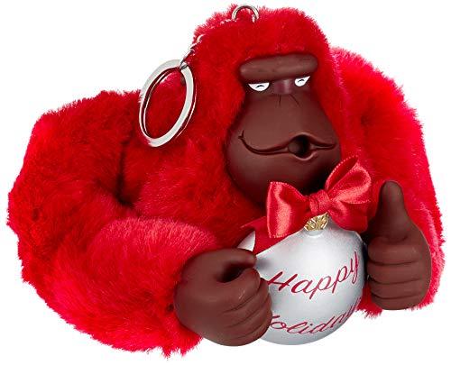 Kipling Damen Happy Holiday Monkey Schlüsselanhänger, Rot (Radiant Red), 13x10x10.5 cm -