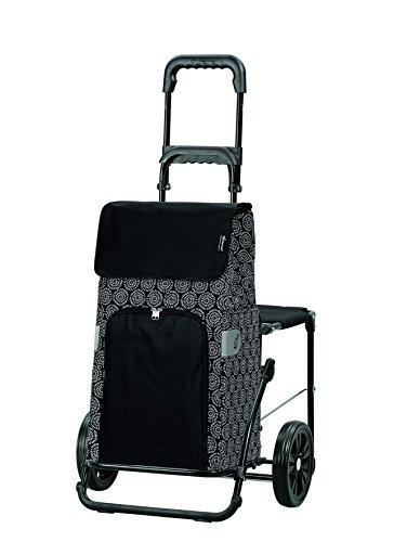 Komfort–Komfort Einkaufstrolley Henni Schwarz
