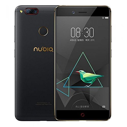 nubia NX569J Z17 mini Smartphone (13 cm (5,2 Zoll), 64GB interner Speicher, 4GB RAM, 2x 13MP Kamera, Android 6.0 Marshmallow) schwarz gold