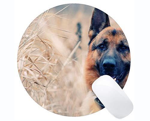Yanteng Customized Runde Mauspad, Elefant und Hund Rutschfeste personalisierte Runde Mauspad