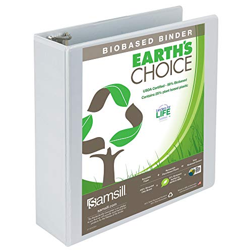 Earth's Choice Biodegradable Angle-D Ring View Binder, 3
