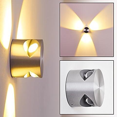 LED Wandlampe Lente rund für den Innen- und Aussenbereich aus Aluminium