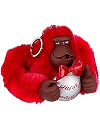 Kipling Happy Holiday Monkey, Women's Keyring, Red (Radiant Red), 10.5x13x10 cm (B x H T)