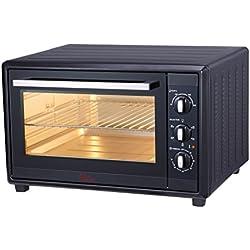 Ardes 60 L AR6260B Forno Elettrico Ventilato Gustavo 60 Litri con Luce Interna 6 Funzioni Cottura Doppio Vetro con Accessori Nero, 2200 W