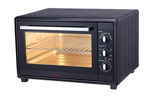 Ardes 60 L Gustavo-Forno Elettrico Ventilato con Luce Interna, 60 Litri, con 6 Funzioni Cottura, Doppio Vetro con Accessori, 2200 W, Nero