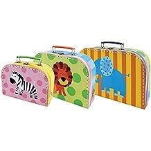 Set de 3 Maletas Infantiles Decorativas Maletas Safari. Accesorios para Viajar. Juguetes y Juegos