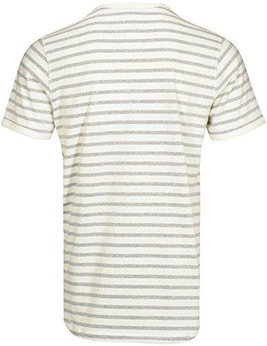Basefield Herren Rundhals T-Shirt Gestreift - Dusty Navy (219011883) 609 DUSTY NAVY