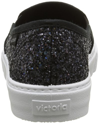 Victoria Slip On Glitter, Baskets Basses Mixte Adulte Noir (10 Negro)