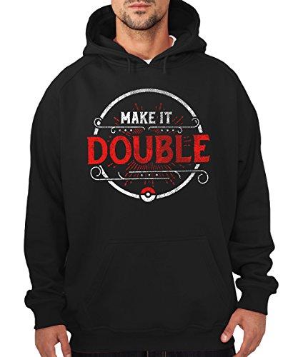 -- Make it double -- Boys Kapuzenpullover Schwarz