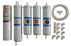 Complete RO Service Filter Kit for Whirlpoo/Aquaguard/Kent/Nasaka RO Water Purifiers (Includes extra RO Pipe and Flow Restrictor)