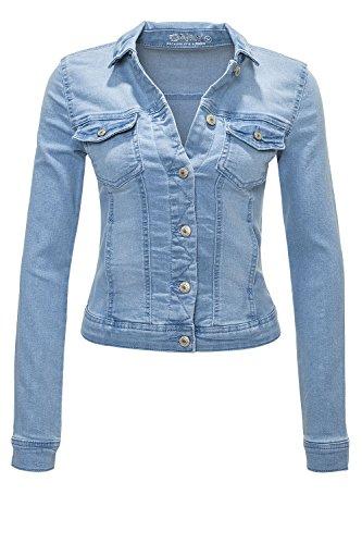 Only Damen Jeansjacke Übergangsjacke Leichte Jacke (M, Hellblau)