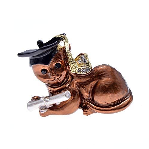 kliy Broschen 2 Farben Wählen Emaille Katze Und Maus Broschen Für Frauen Tier Deisgn Lustige Kitty Schmuck Hohe Qualität-C -