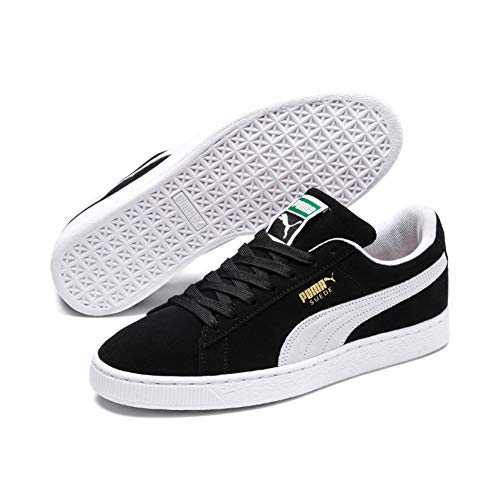 Puma - Suede Classic+ - Baskets mode - Mixte Adulte - Noir (Black/White 03) - 43 EU