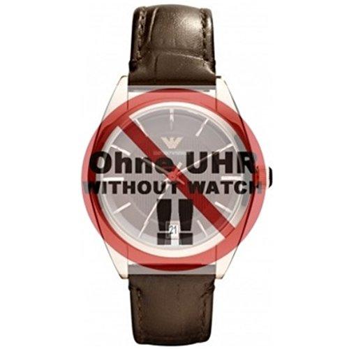 emporio armani ar Emporio Armani Uhrenarmband LB- AR0378 Ersatzband AR 0378 Leder 16 mm