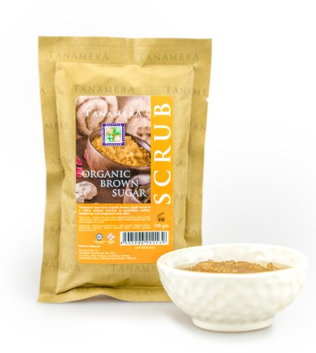 Tanamera Organic brauner Zucker Körperpeeling 100 g Beruhigendes Körperpeeling auf Zucker-Basis (Brauner Zucker Spa)