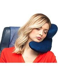 J-pillow, oreiller de voyage-support pour la tête, le coup et le menton - Gagnant du prix Invention britannique de l'année (bleu marine)