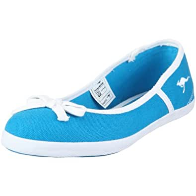 KangaROOS Prima-Canvas 31498, Damen Sneaker, Blau (blue 420), EU 38